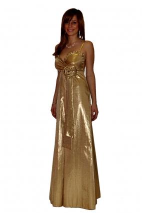 Společenské šaty GOLDIE zlaté a1297f36463