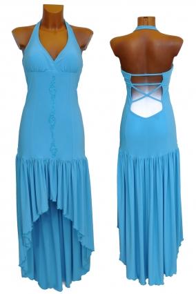 Společenské a plesové šaty VICTORIE modré