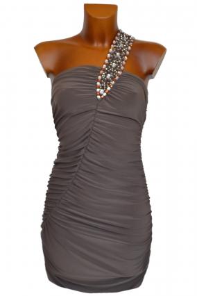 Společenské šaty ANETTE béžové