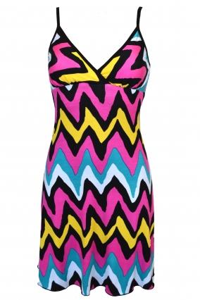 Krátké letní šaty MANILA barevné - RC-Šaty.cz fd37189e61